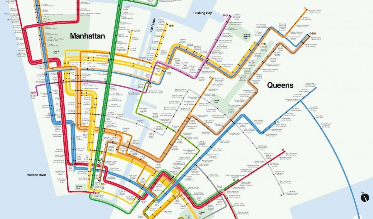 Vignelli NYC Subway Map - Design Is Not Art: The Work and Legacy of Massimo Vignelli