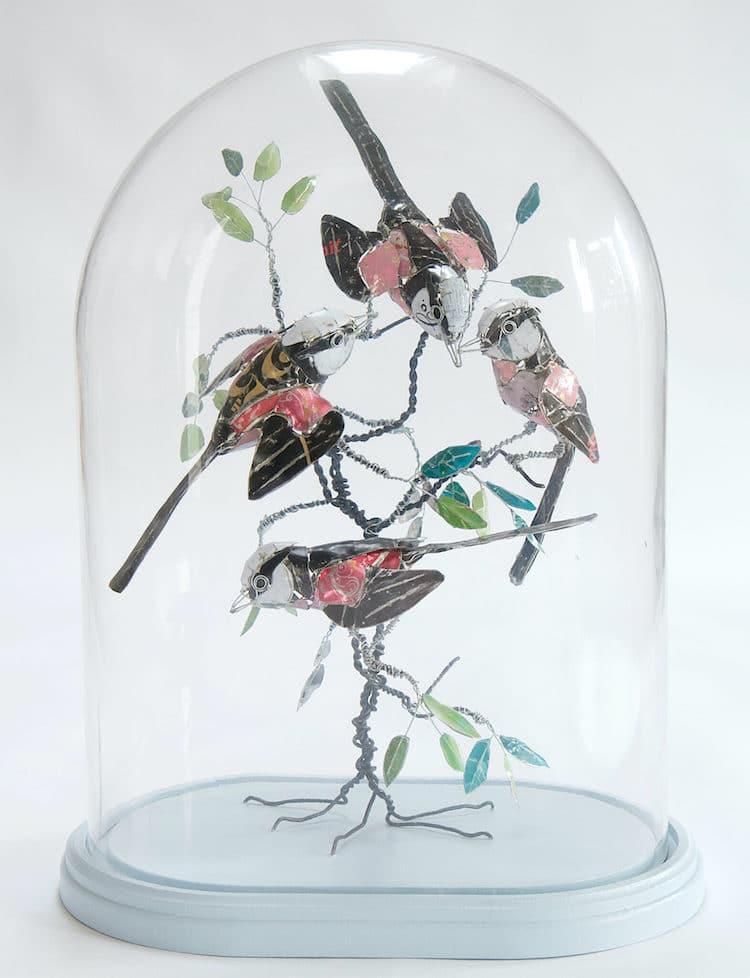 Metal Bird Sculptures by Barbara Franc