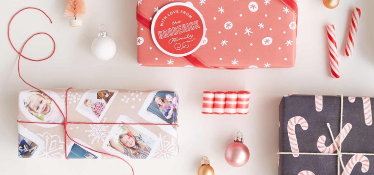 Unique Wrapping Paper from Minted