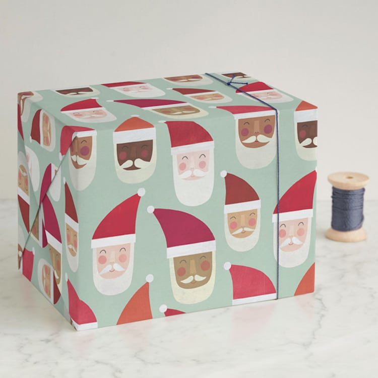 Multiethnic Santa Wrapping Paper