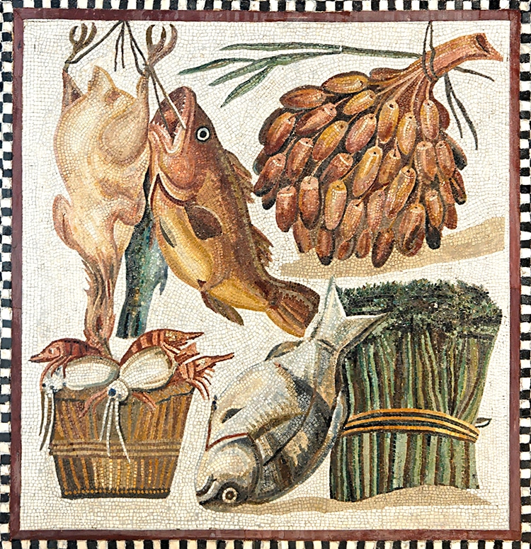 Roman Mosaic Villa With Food Still Life Vatican museum