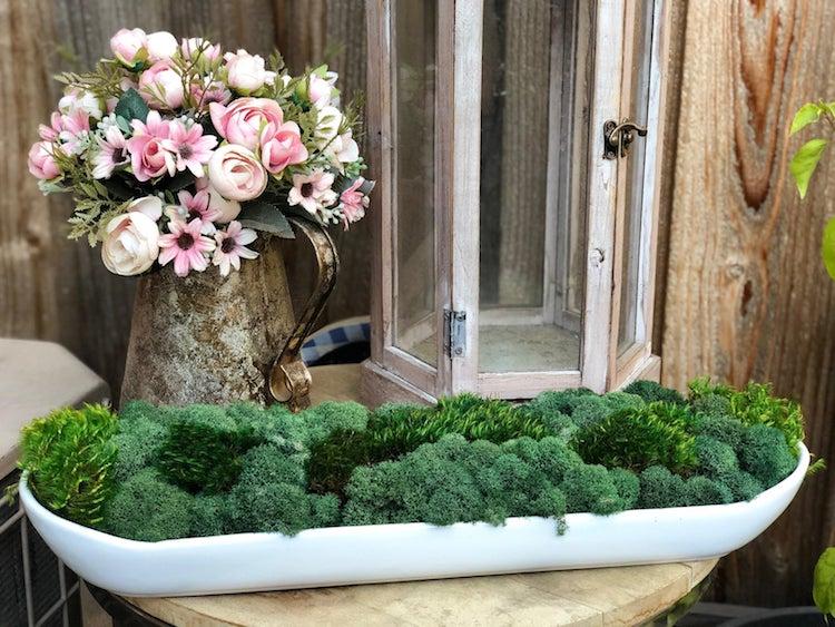 Moss Vase Centerpiece