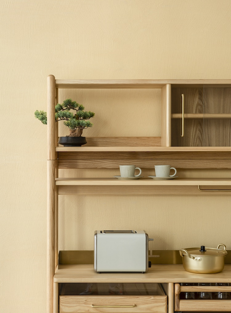 Muzhi Kitchen Cupboard Open Shelf