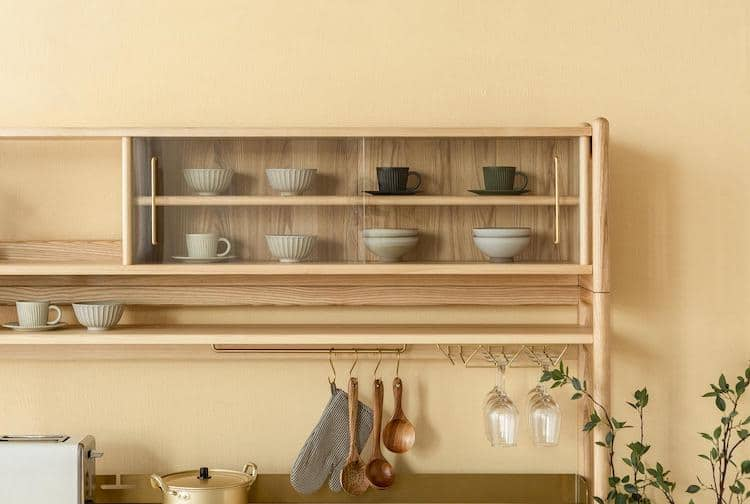Muzhi Kitchen Cupboard Glass Cabinet