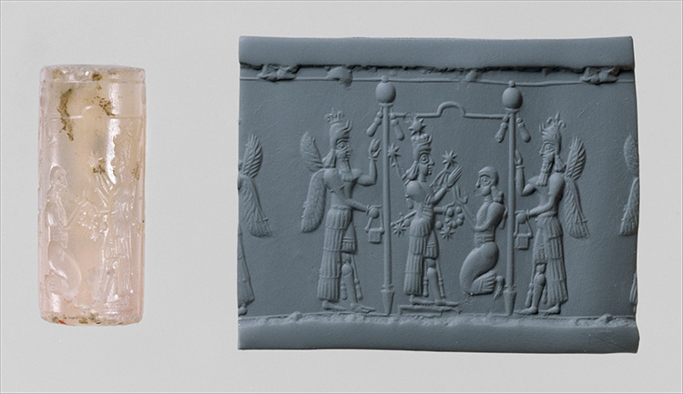 Cylinder Seal With Cultic Scene