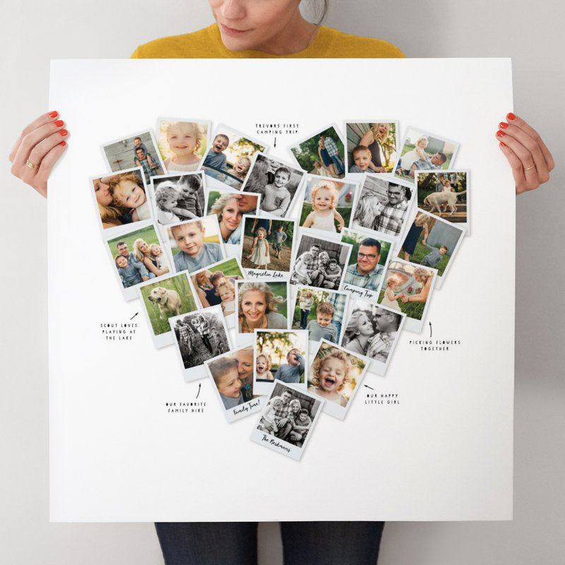 Heartsnap Collage from Minted