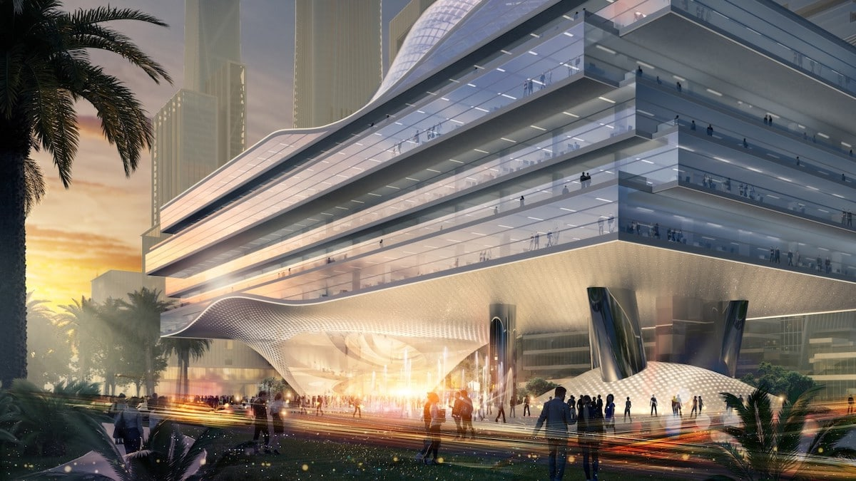 Exterior Rendering of Shenzhen Wave - Architects Reimagine Urban Office Life in Shenzhen Wave Building