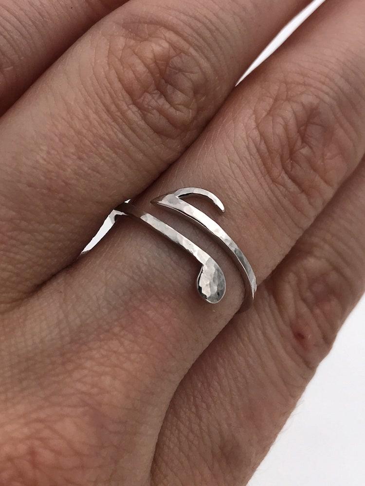 Silver Music Rings
