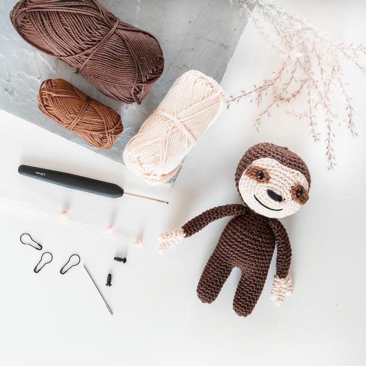 DIY Sloth Crochet Kit