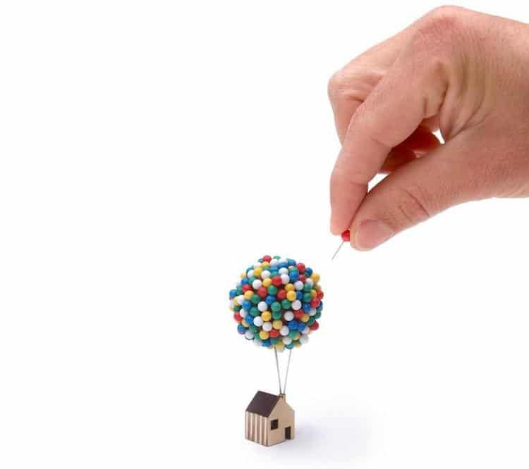 Balloon House Pin