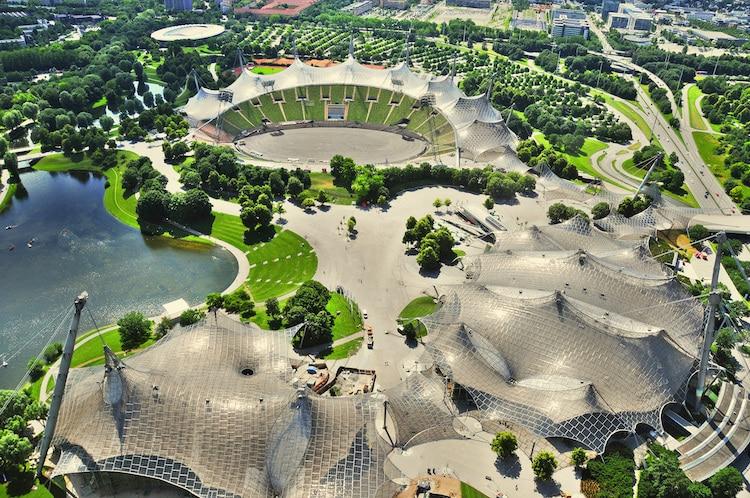 arquitectura estadio olimpico de munich