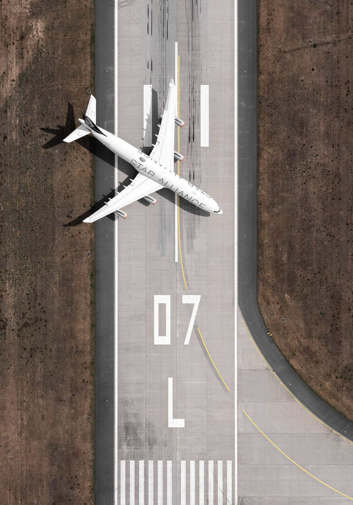 Airplane on a Landing Strip