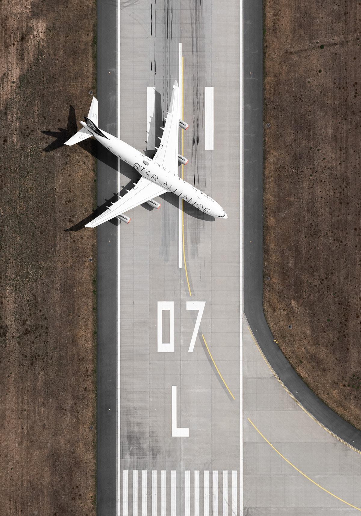 Airplane on a Landing Strip