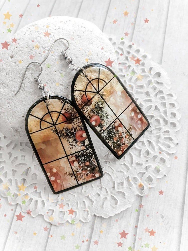 Transparent Window Earrings