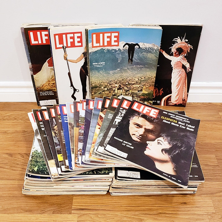 Vintage Life Magazines Movie Stars