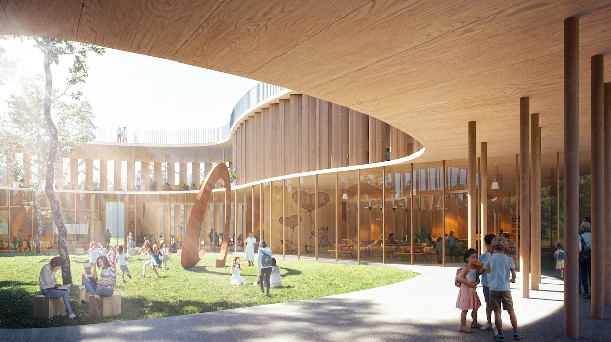 Architect Proposes Wooden Treehouse School for Education Post-Covid
