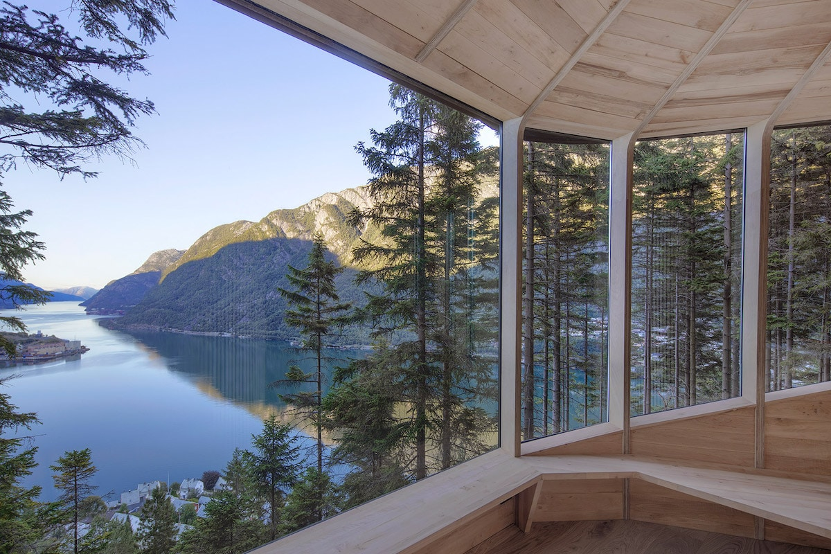 Interior - 'Woodnest' Cabin Is a Tiny Self-Supported Tree House in This Norwegian Forest