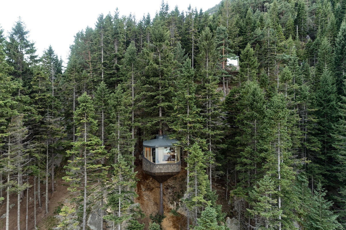 'Woodnest' Cabin Is a Tiny Self-Supported Tree House in This Norwegian Forest
