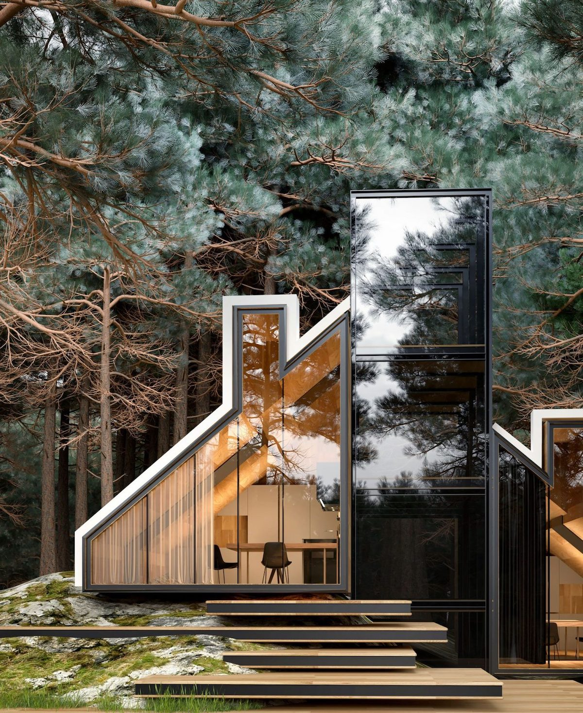 Architect Creates Playful House-Shaped House in Secluded Forest