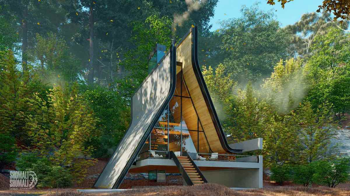 Architect Reimagines the Typical A-Frame Cabin