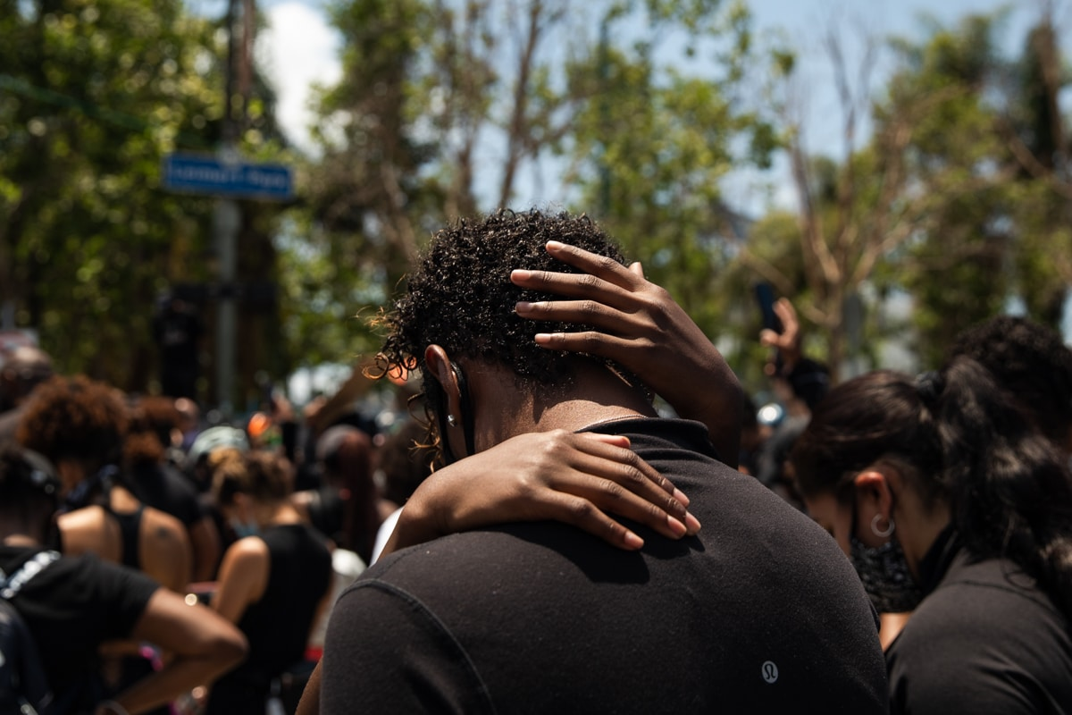 """""""COVID Protest Leimert Park"""" by Alexis-Hunley"""