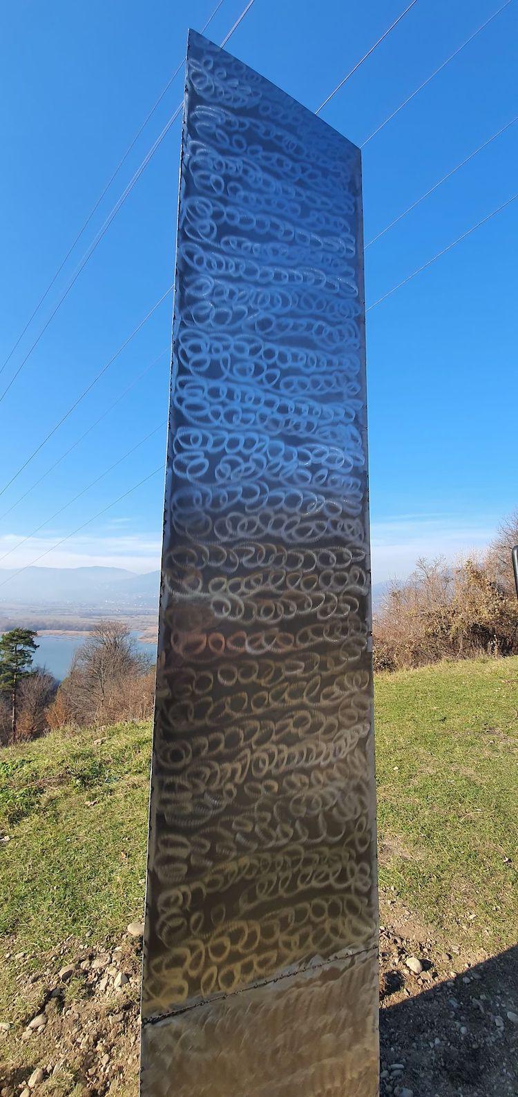 Markings on Romanian Metal Monolith