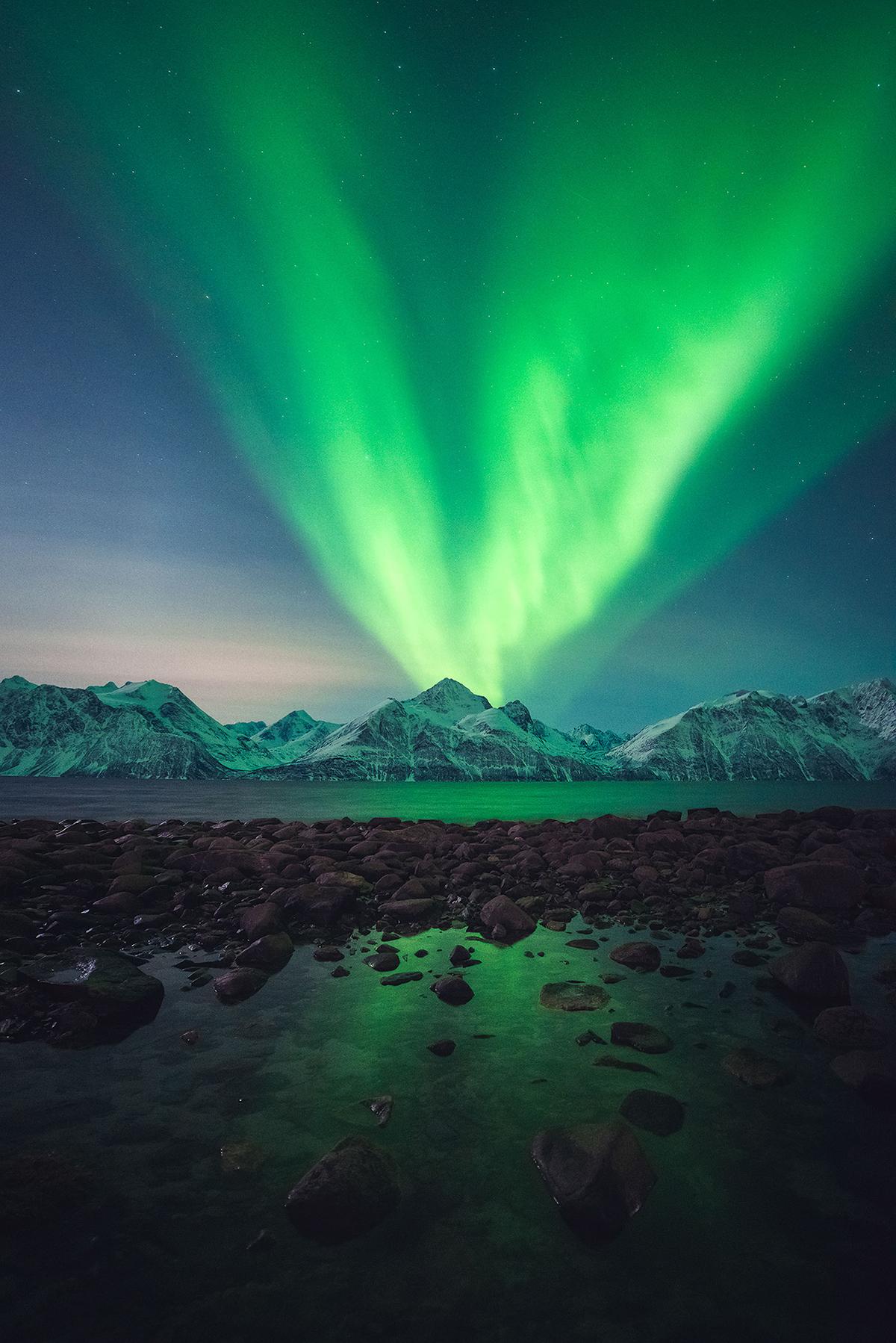 Aurora borealis Eruption