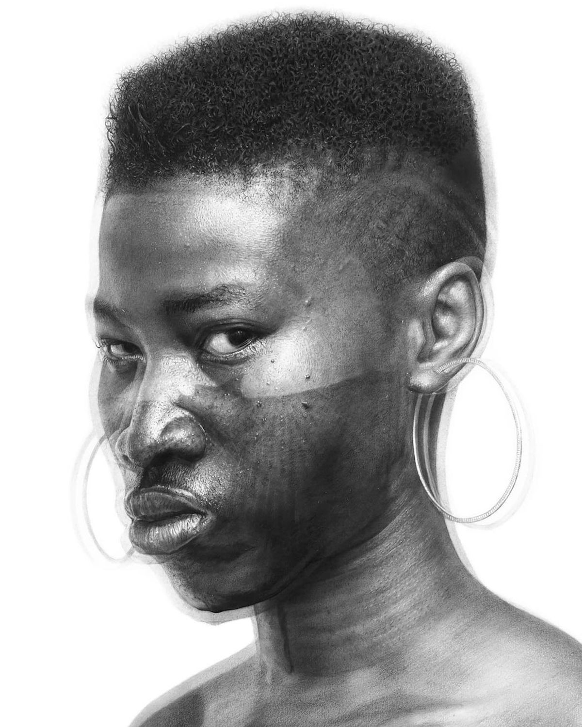 Hyperrealistic Pencil Drawing by Arinze Stanley