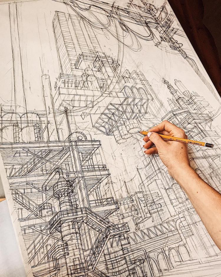Architecture Drawings by Aysylu Zaripova