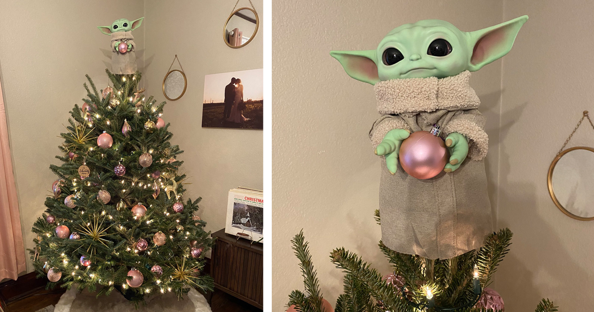 People Are Decking The Halls With Diy Baby Yoda Tree Toppers
