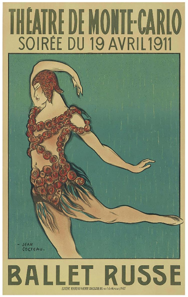 Ballet Russe Art Nouveau Modern Dance