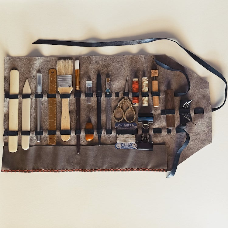 Deluxe Book Binding Kit With Leather Case