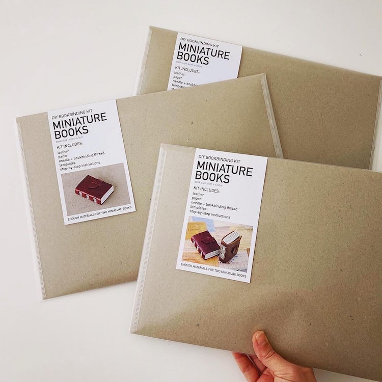 Mini Leatherbound Book Binding Kit