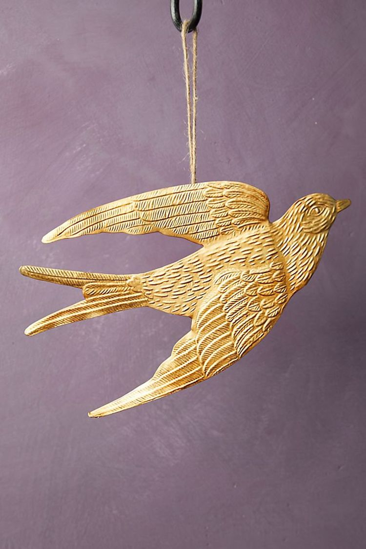 Hover your mouse over an image to zoom. Golden Bird Ornament