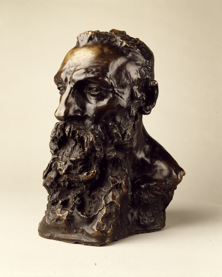 Bust of Rodin by Camille Claudel