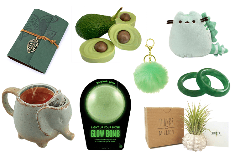 Green Gift Basket - 64 Products to Help You Create the Perfect Color-Themed Gift Basket