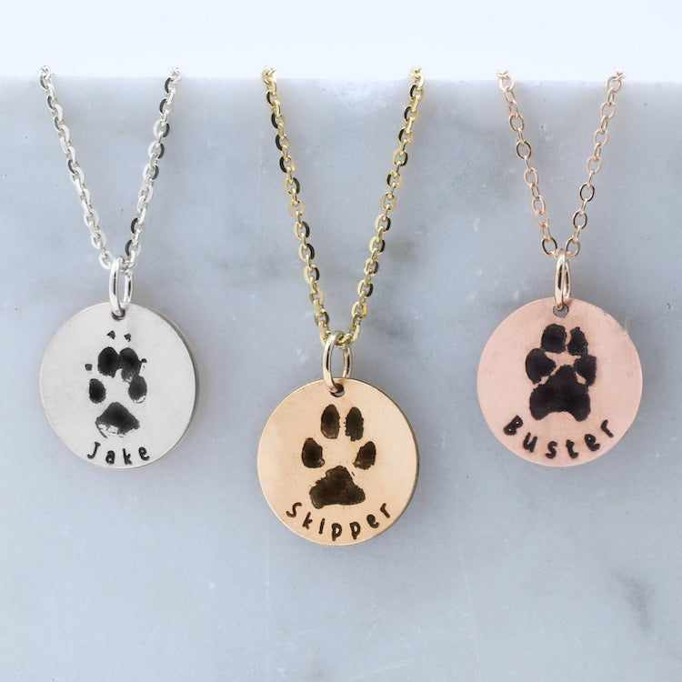 Pawprint Dog Necklace