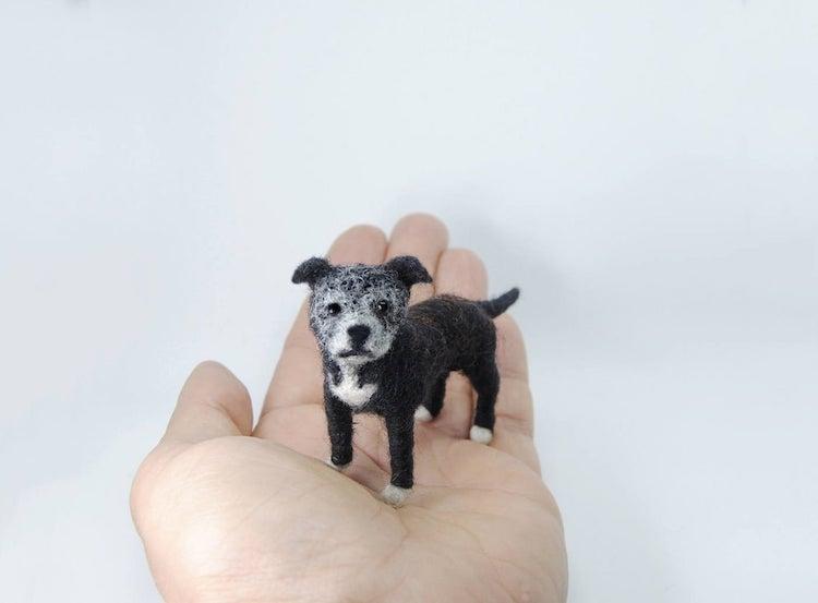 Miniature Felted Dog