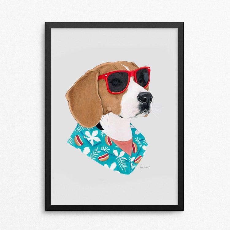 Cool Dog Print