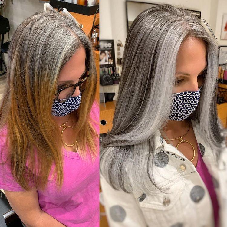 Gray Hair Color Style Ideas