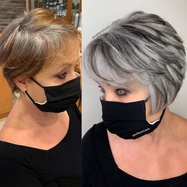Gray Hair Transformation