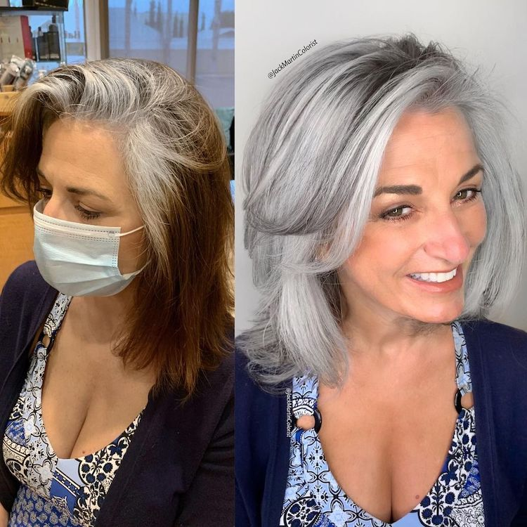 Gray Hair Color Ideas