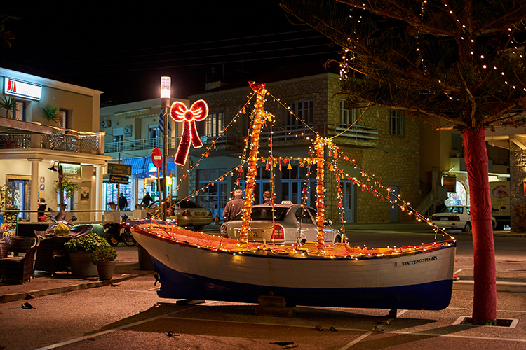 Barcos decorados en Grecia