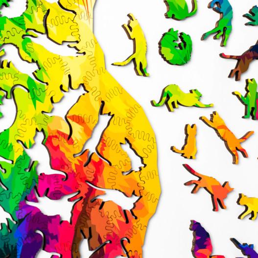 Rompecabezas de gato arcoíris