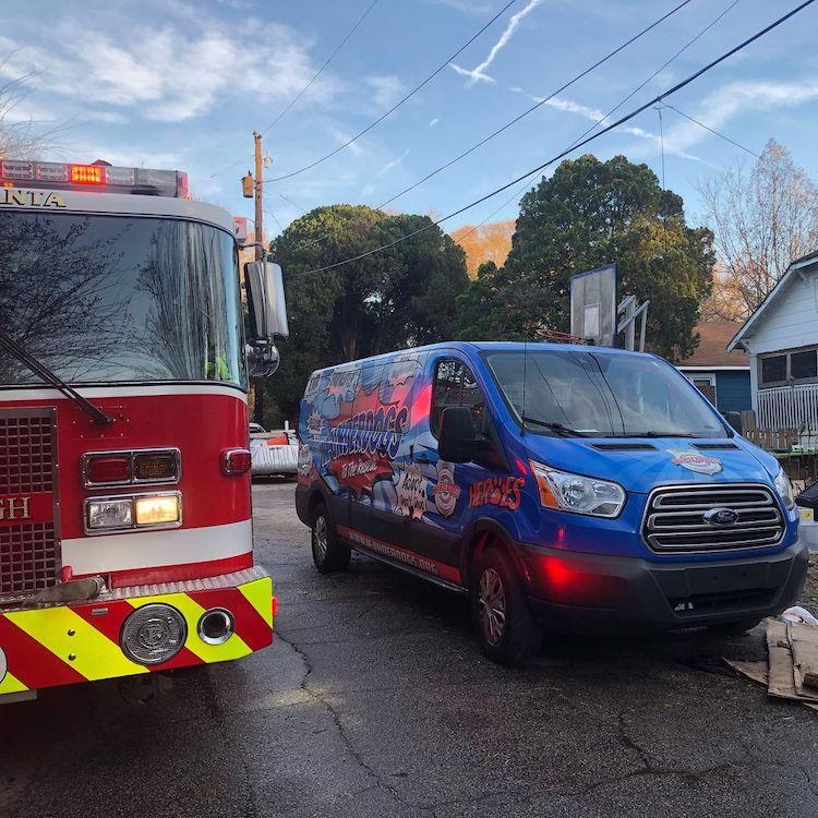 Fire Truck in Street