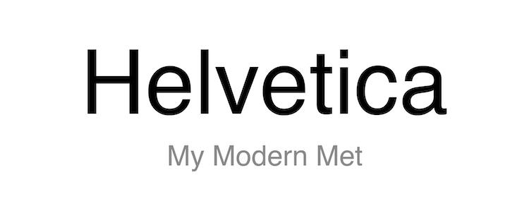 Tipo de letra Helvetica