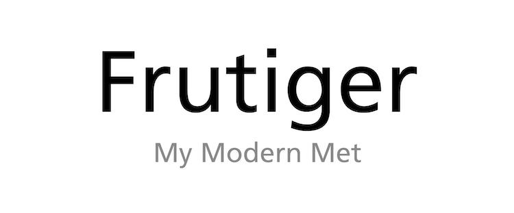 Tipo de fuente Frutiger