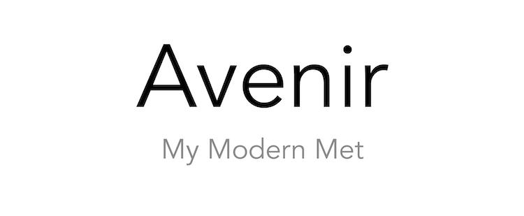 Tipo de letra Avenir