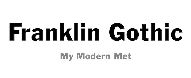 Tipo de letra Franklin Gothic