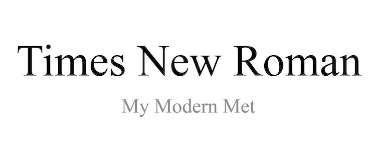 Tipo de letra Times New Roman
